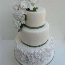 Vintage Wedding Cake Serving Set Gold Knife Hammered And Rose