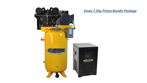 Emax 7.5hp 80 Gal 2 Stage 1 Phase Compressor with Air Dryer Bundle