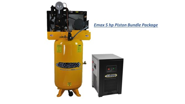 Emax 5hp 80 Gal 2 Stage 1 Phase Compressor with Air Dryer Bundle