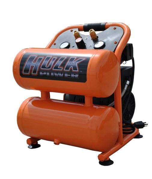 New 1hp 4 Gallon Hulk Silent Air Portable Air Compressor