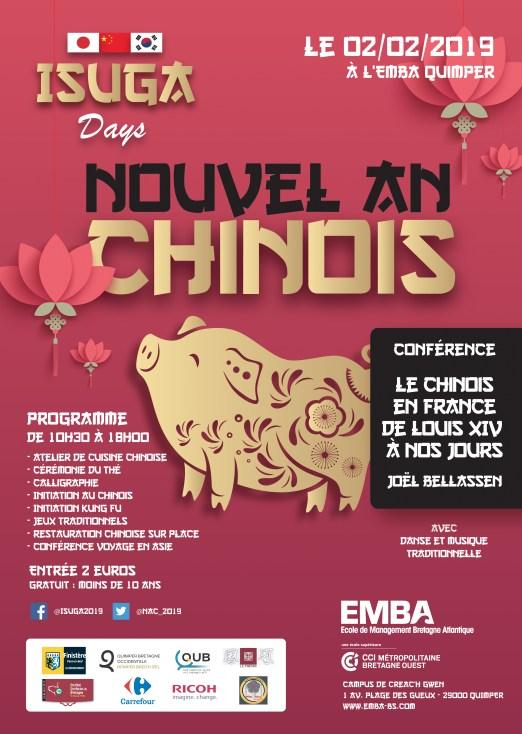 nouvel an chinois 2019 à l'Isuga de Quimper