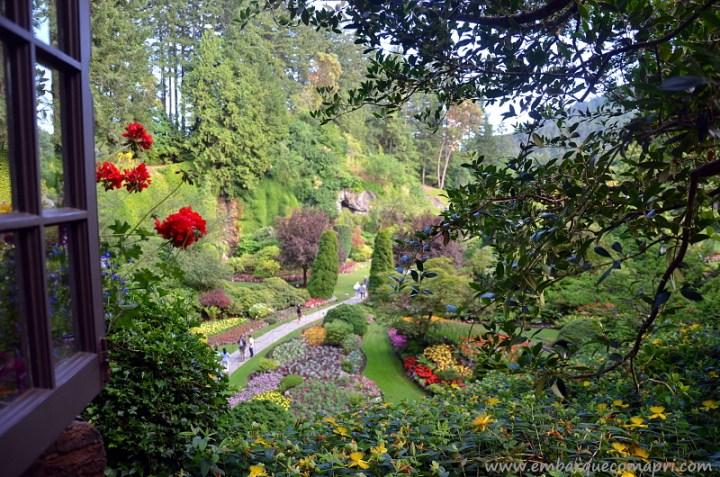 The Butchart Gardens Sunken Garden no verão