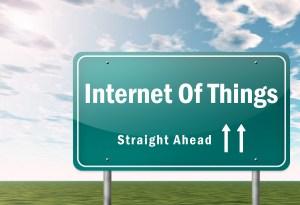 IoT straight ahead signpost