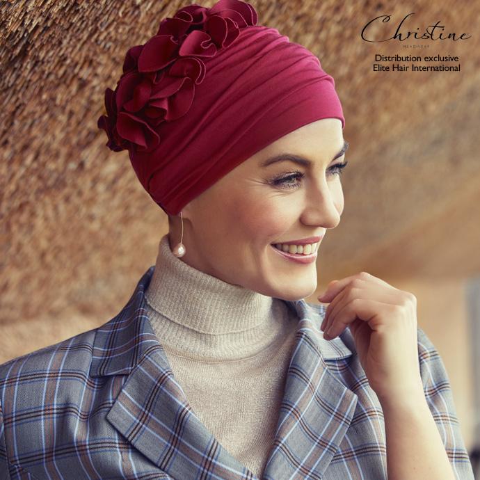 Turban rouge bordeaux