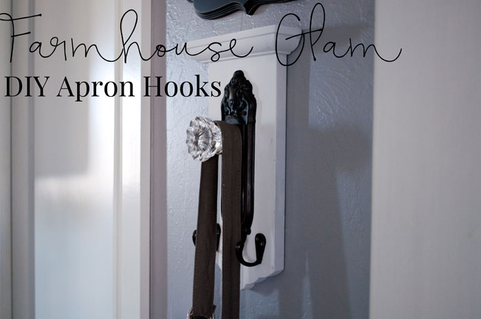 This apron hook is a simple way to add a little Farmhouse glam to your kitchen