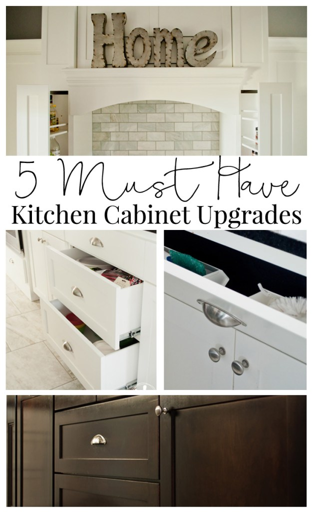 Kitchen cabinet upgrades can add up quickly so when designing your kitchen space, make sure any upgrades are worth the expense.