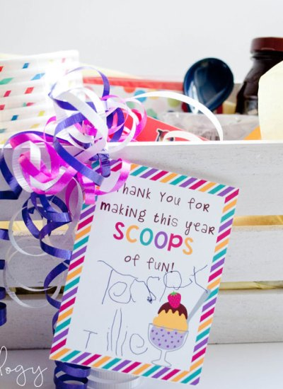 A cool treat teacher gift idea with free printable!
