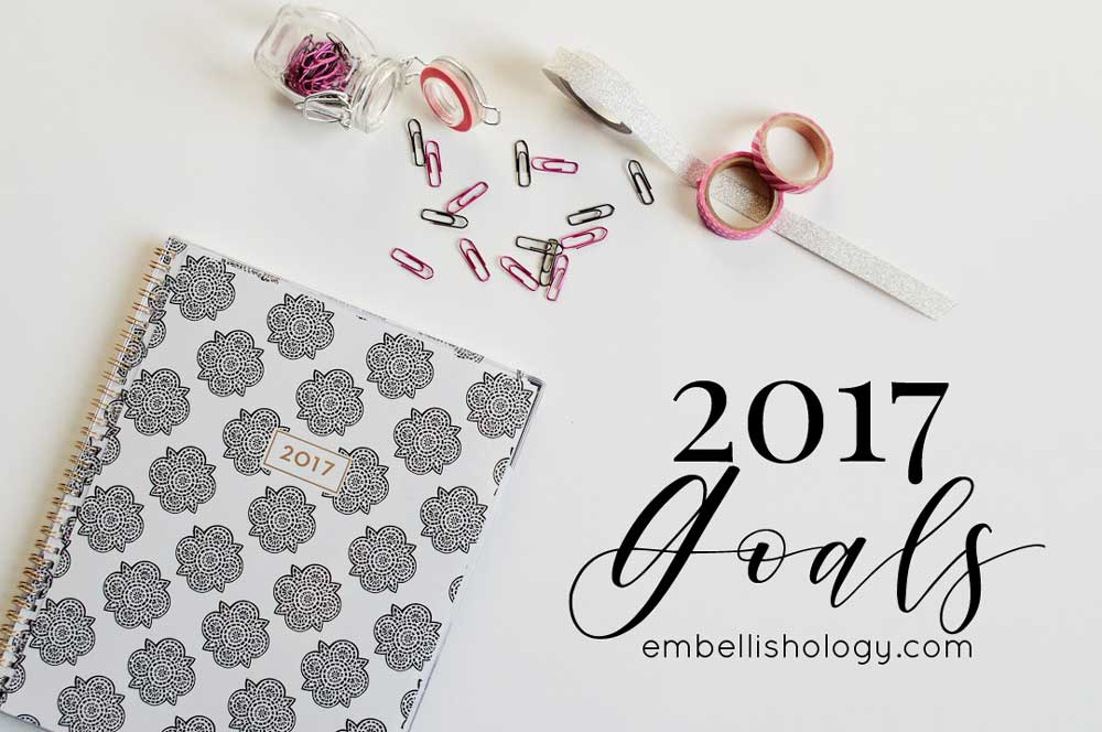 March Update on 2017 Goals for embellish*ology