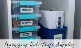 Organizing Kids' Craft Supplies