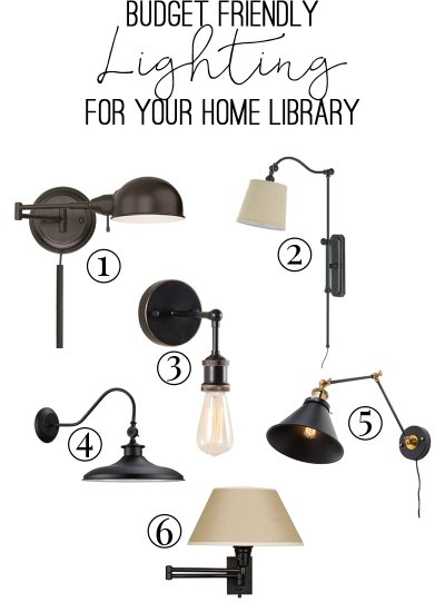 Budget Friendly Lighting for your Home Library