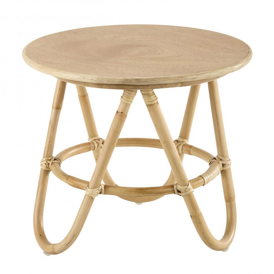 table basse ronde bois maison du monde emberizaone fr