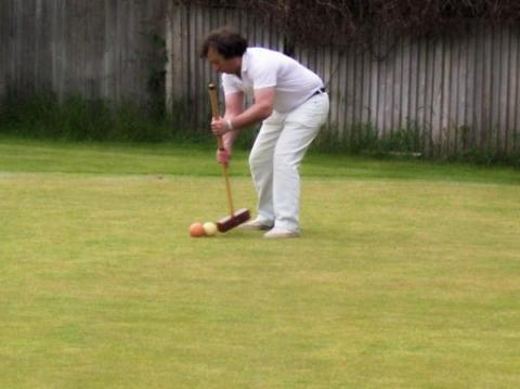 We play both association and golf croquet