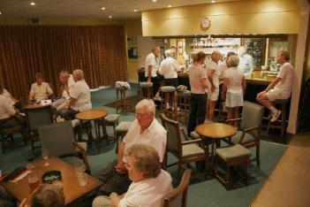 Members can enjoy a drink in our bar after their game.