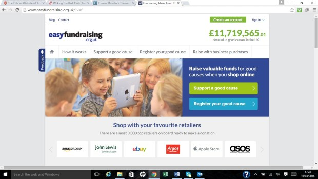 Easyfundraising.org.uk - Home Page