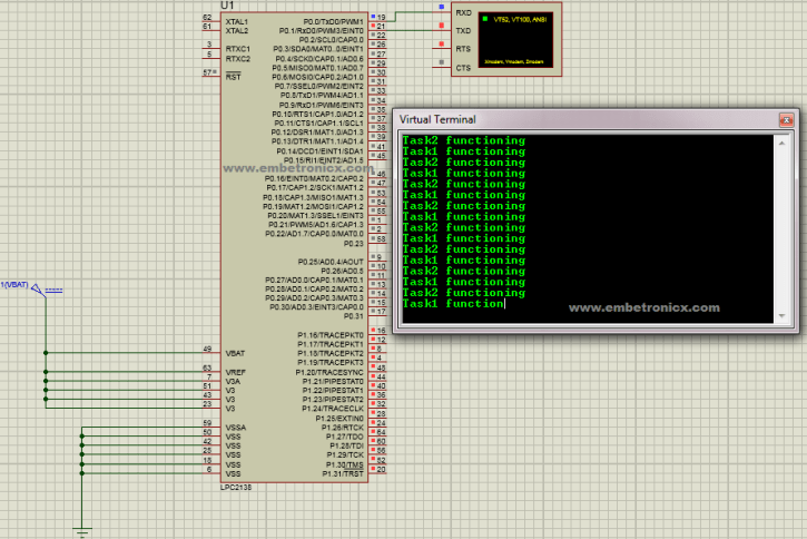 lpc2148-freertos-with-semaphore FreeRTOS - LPC2148 Binary Semaphore