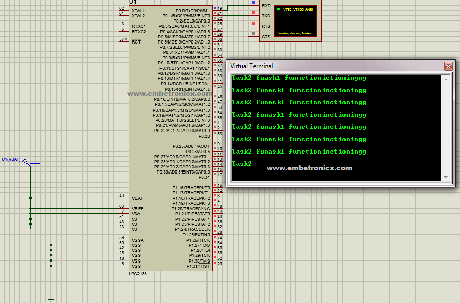 FreeRTOS Binary Semaphore Tutorial in LPC2148 | EmbeTronicX