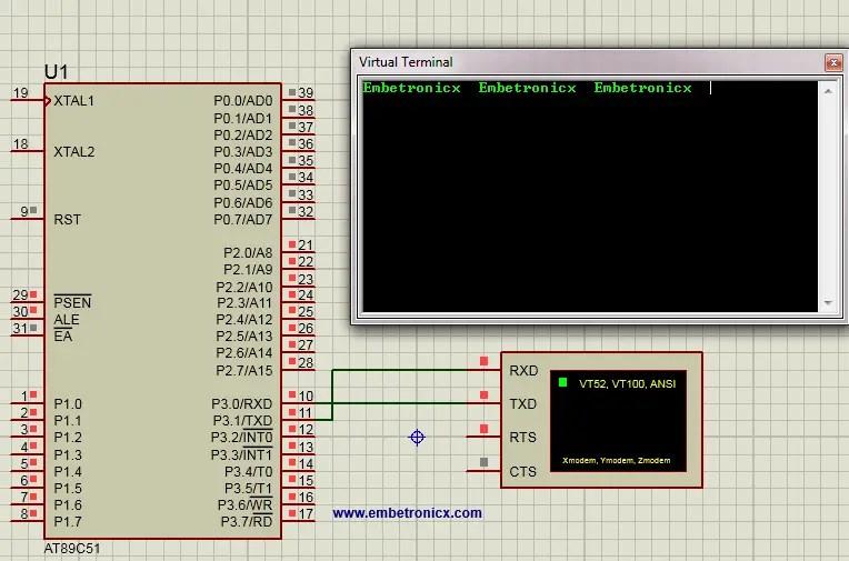 8051 UART Tutorial (Serial Communication) | EmbeTronicX