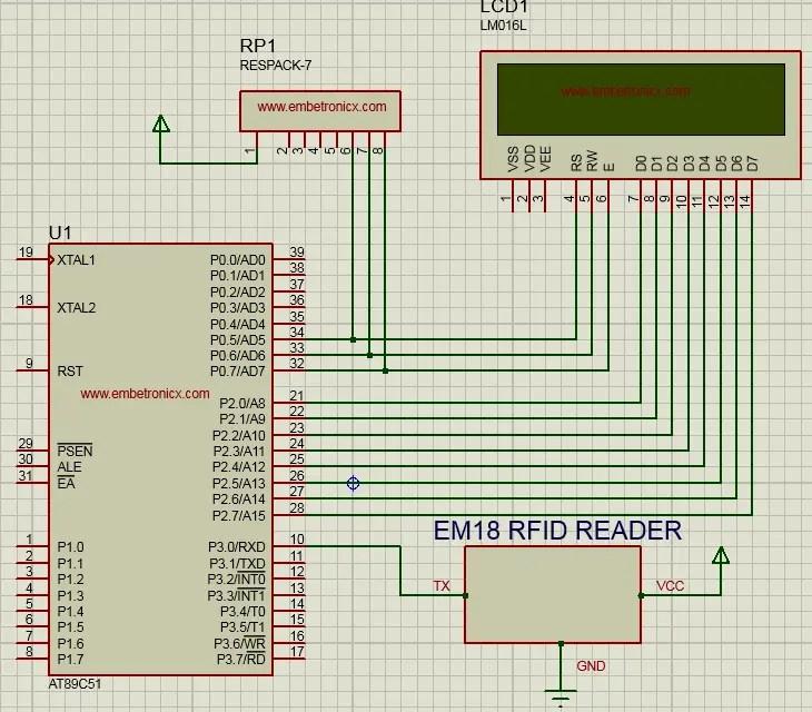 RFID Interfacing With 8051 (EM18) | EmbeTronicX