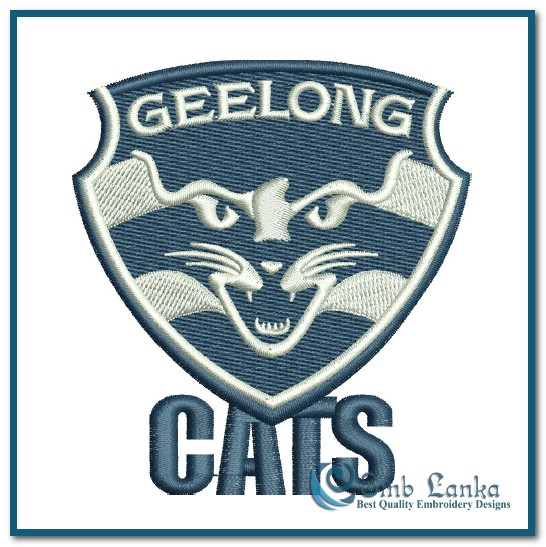 Geelong Football Club Logo Embroidery Design