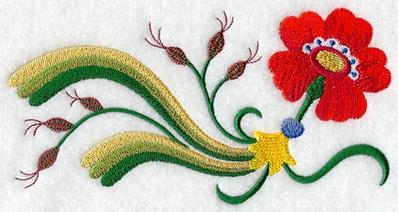Swedish Folk Art Border