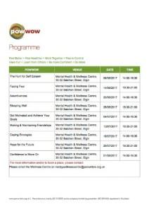 Powwow Programme - Moray Health & Wellbeing Centre