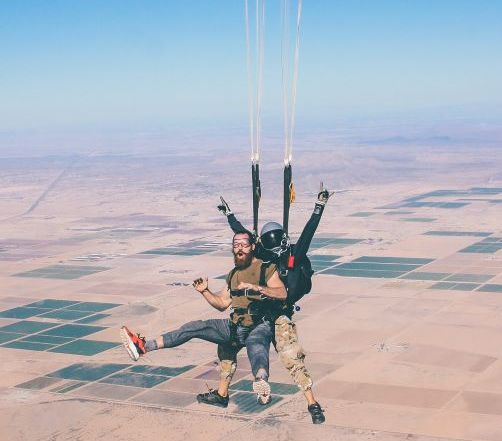 Building trust sky diving photo