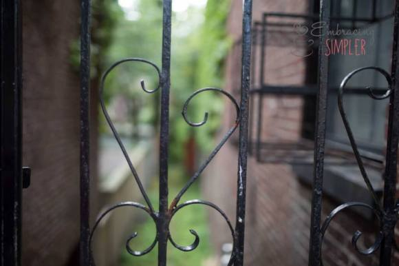 Iron fence in Boston