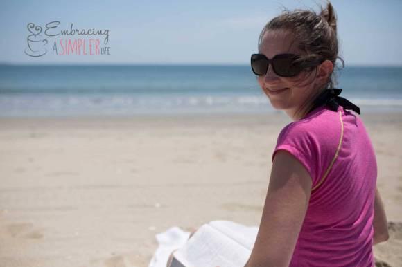 Katie on the beach