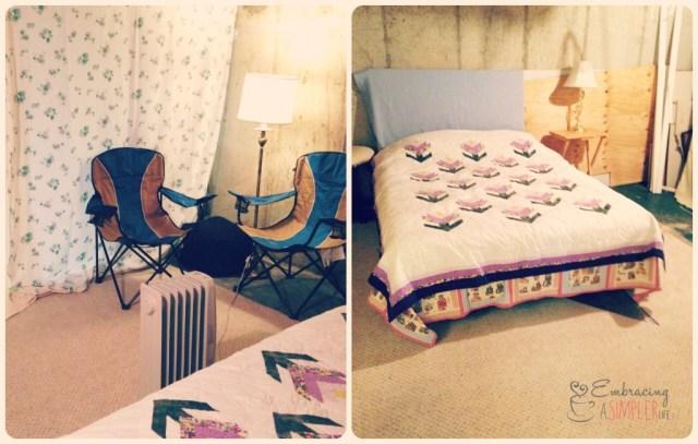 basement room collage