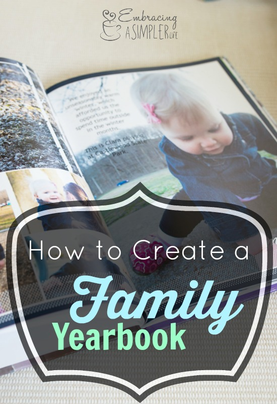 how to create a family yearbook