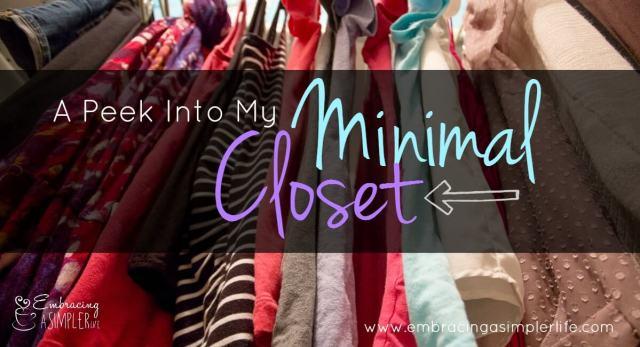 a peek into my minimal closet FB
