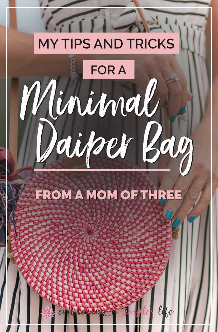 minimal diaper bag