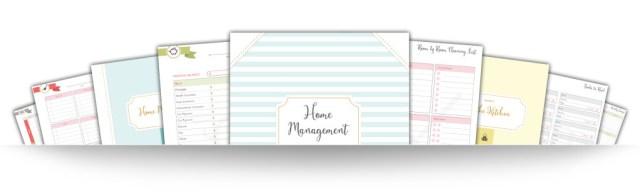 Home Management Binder Pages 3D