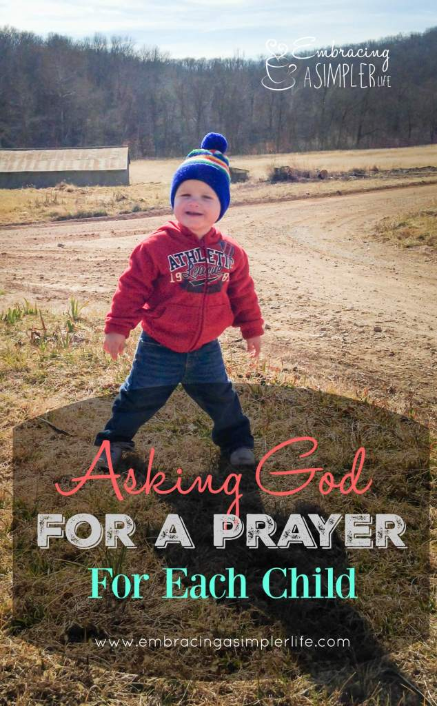 asking God for a prayer for each child