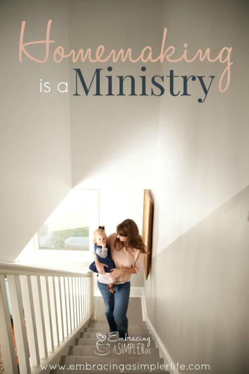 homemaking is a ministry]