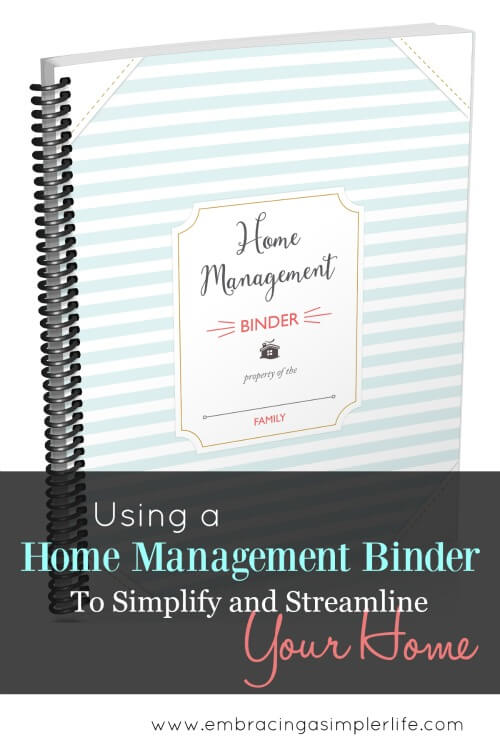 using a home management binder to streamline and simplify your home smaller