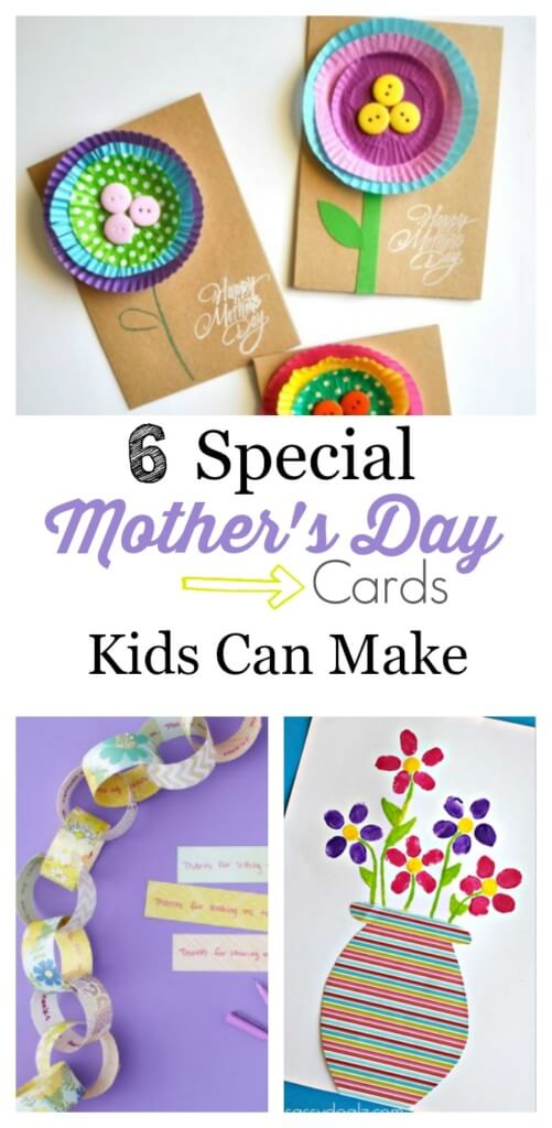 6 special mothers day cards kids can make