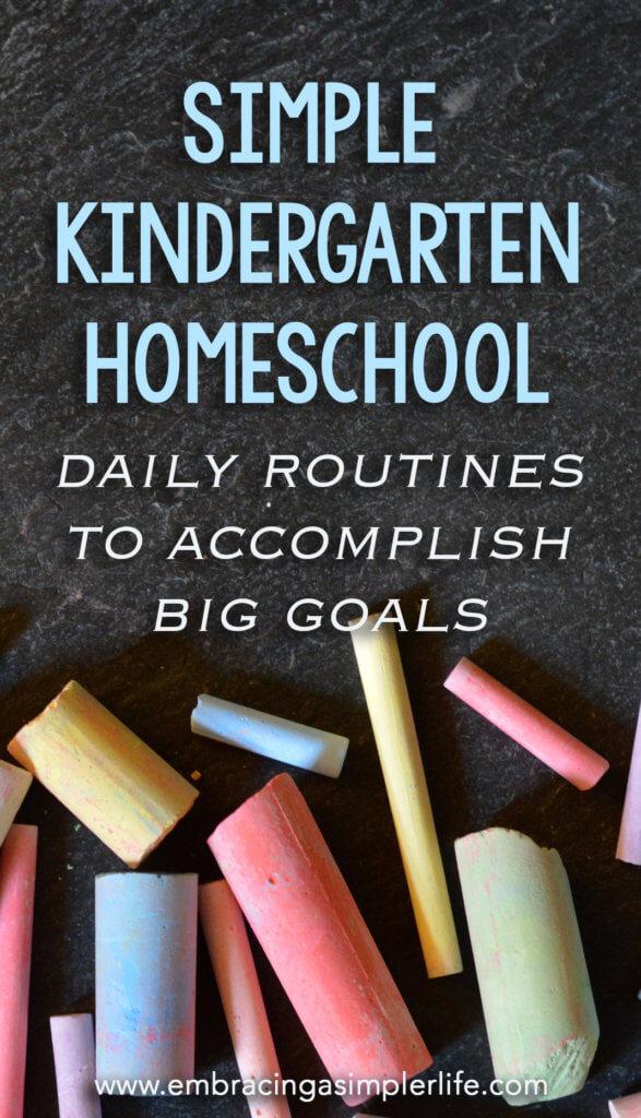 Simple Kindergarten Homeschool