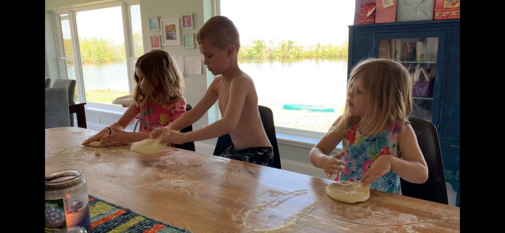 pizza dough making