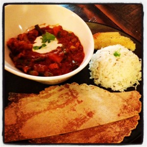 Curry rice roti