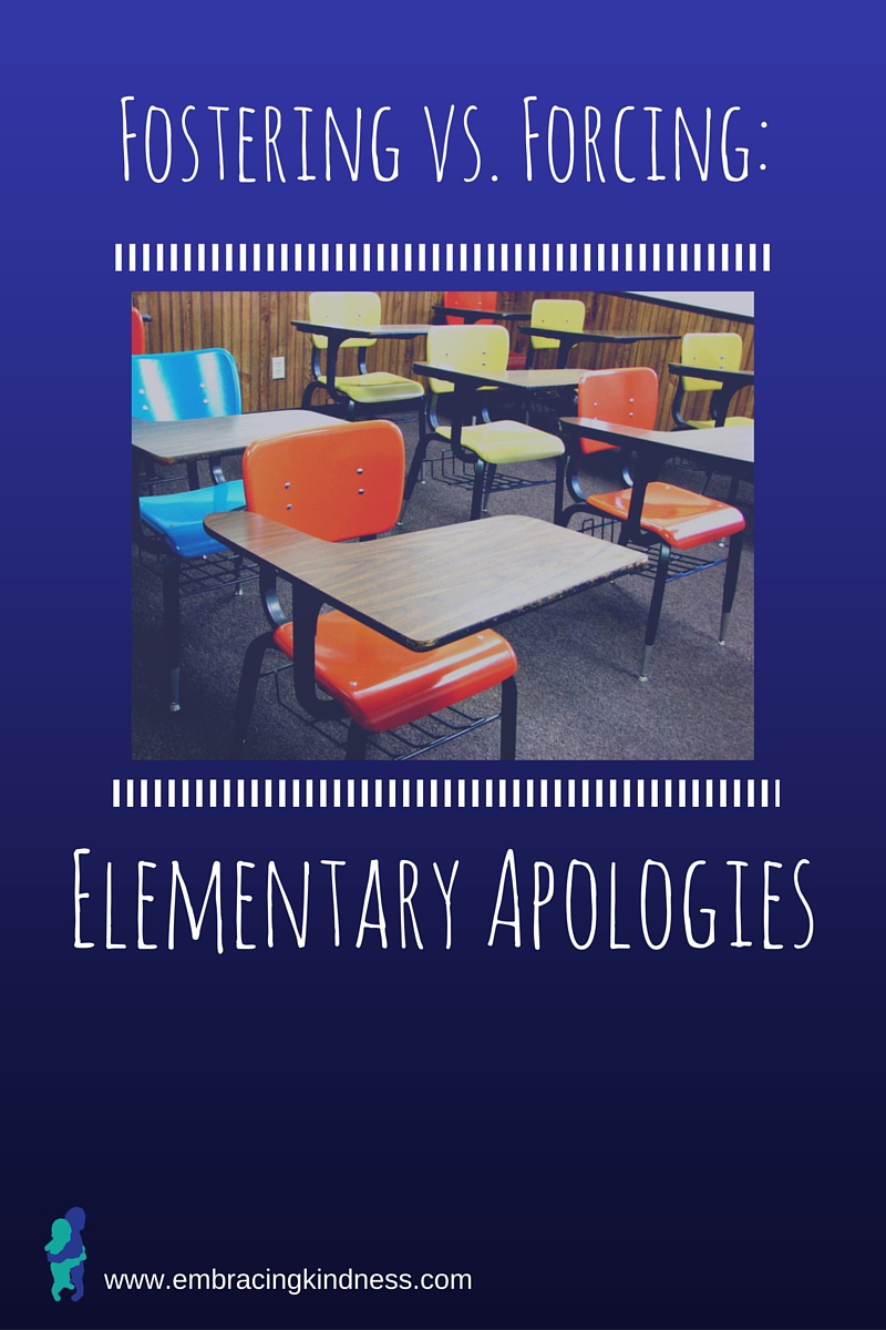 Fostering vs. Forcing: Elementary Apologies