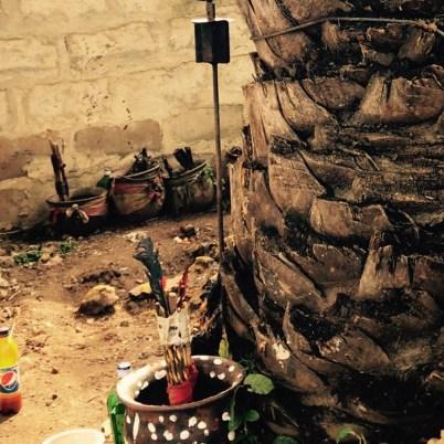 Egbe Pot and Osun Staff (by Obara Meji)