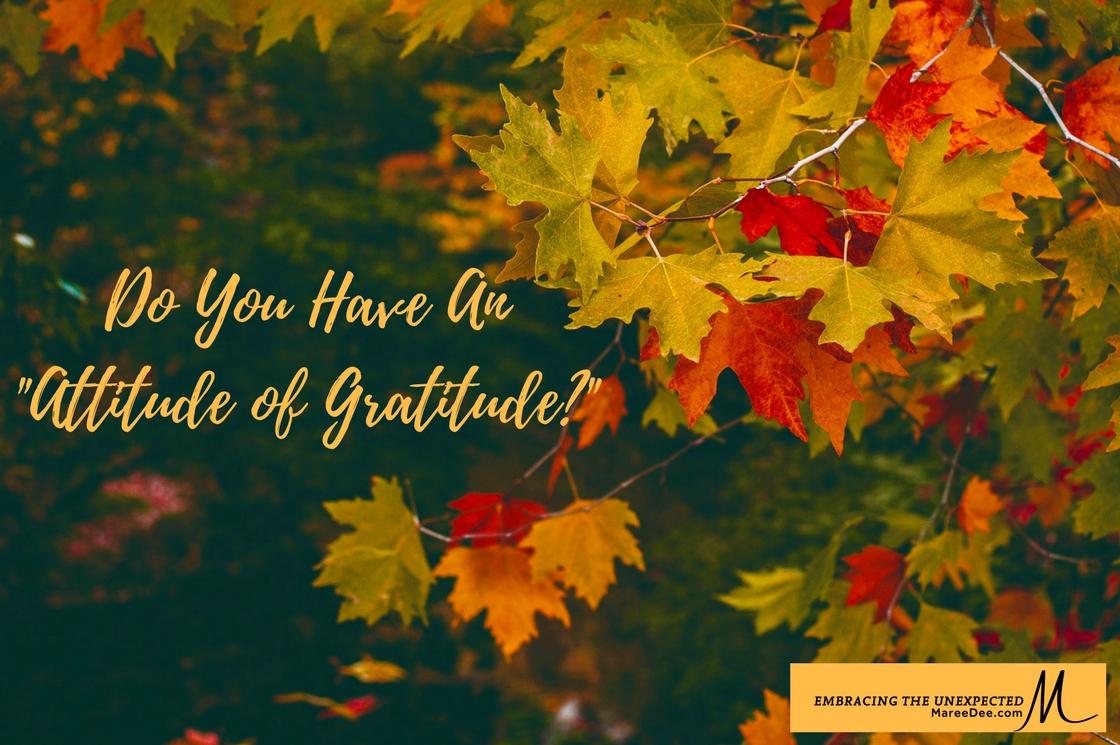 """Do You Have An """"Attitude Of Gratitude?"""""""