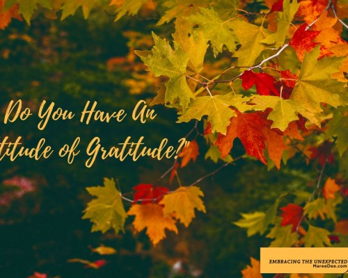 "Do you ever have that morning where you wake up, and life just stinks? The last thing on your mind is an ""attitude of gratitude."""