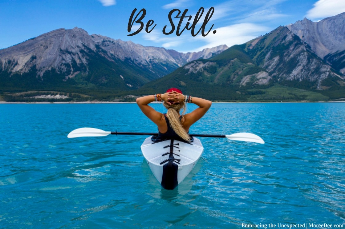 "Can you hear God's whispers or is your world to noisy?  Join us this month at Embracing the Unexpected as we uncover what it means to ""Be Still."""