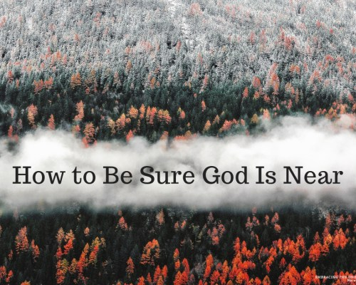 Are you sure God is near to you? Maybe you have been disappointed with God and built a great big wall. Now you wondering has God abandoned me?