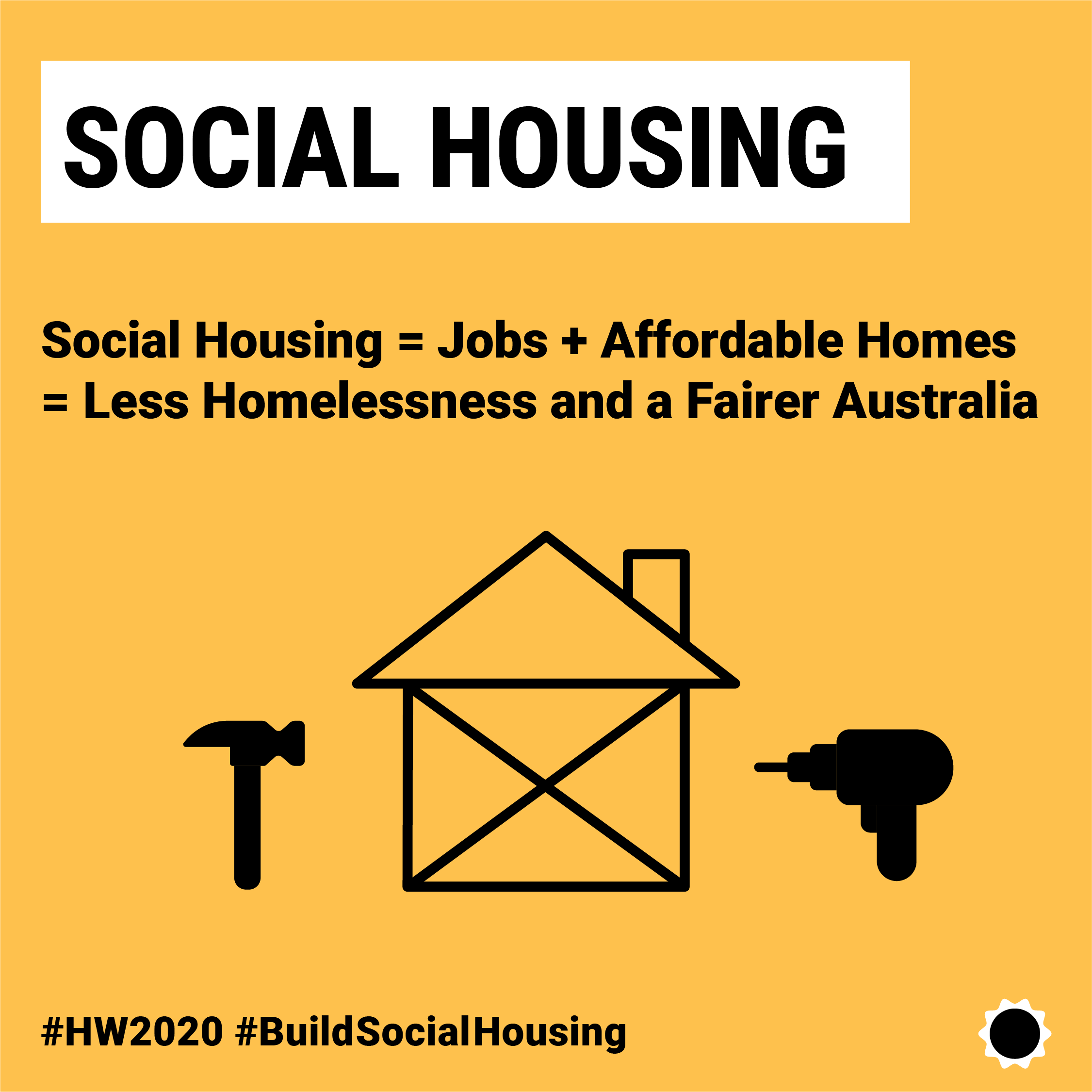 Social Housing = Jobs + Affordable Homes = Less Homelessness and a Fairer Australia