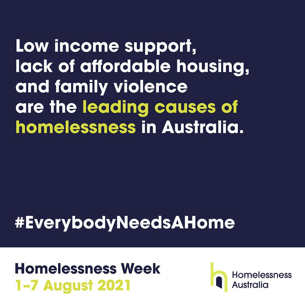 Homelessness Week 2021 – leading causes of homelessness
