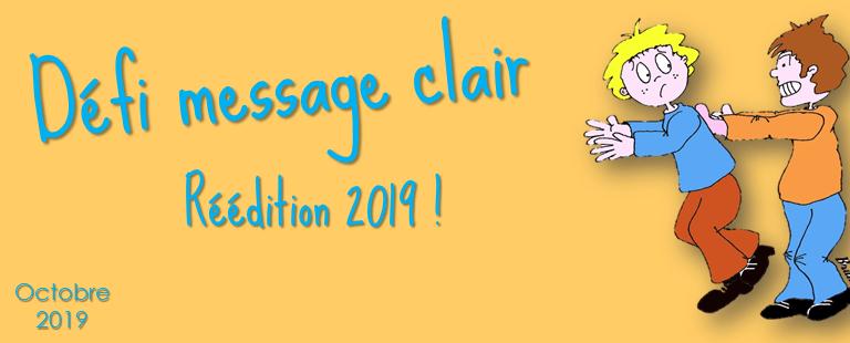 Défi message clair : réédition 2019 !