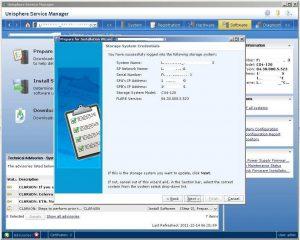 Figure 2.6 - Storage System Credentials